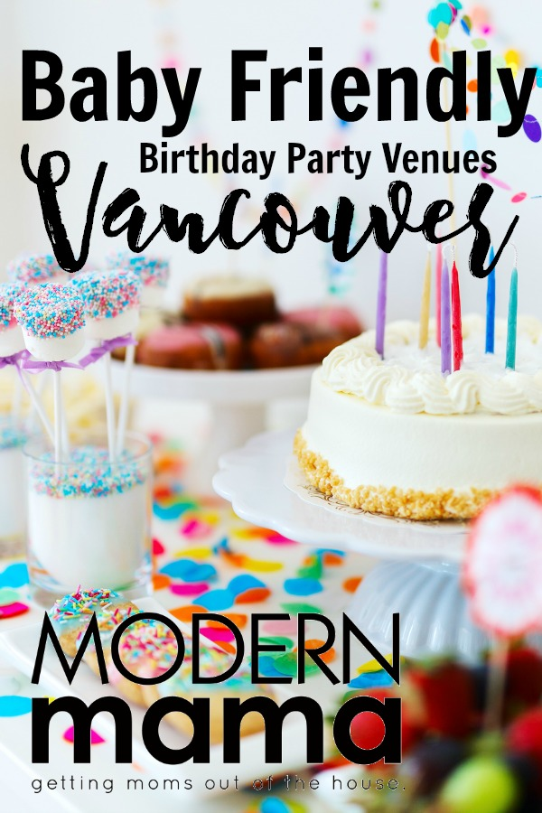 Baby friendly birthday party venues