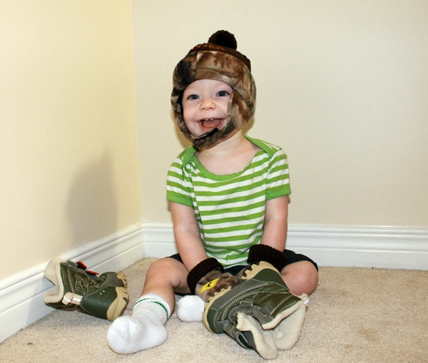 Child with Hat, Boots