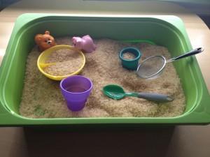 Sensory Tub, Sand toys