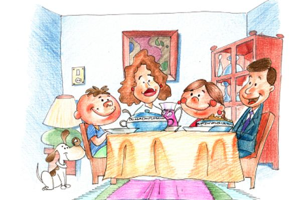 family eating together_illustrated_600pixels