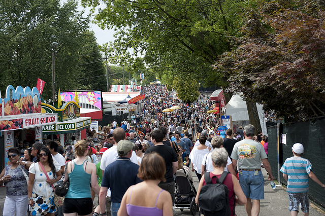 Crowd at PNE 2012