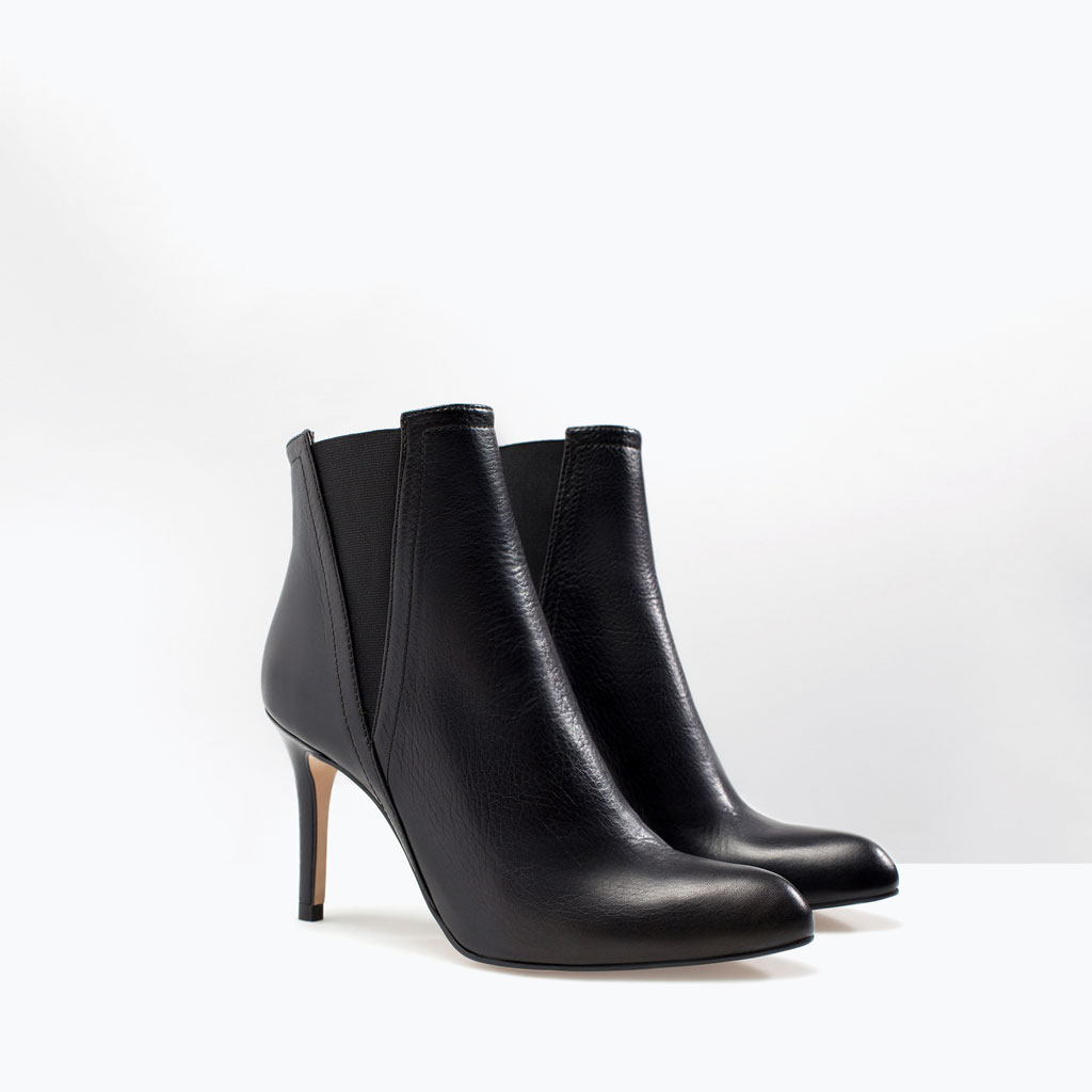leather boot zara