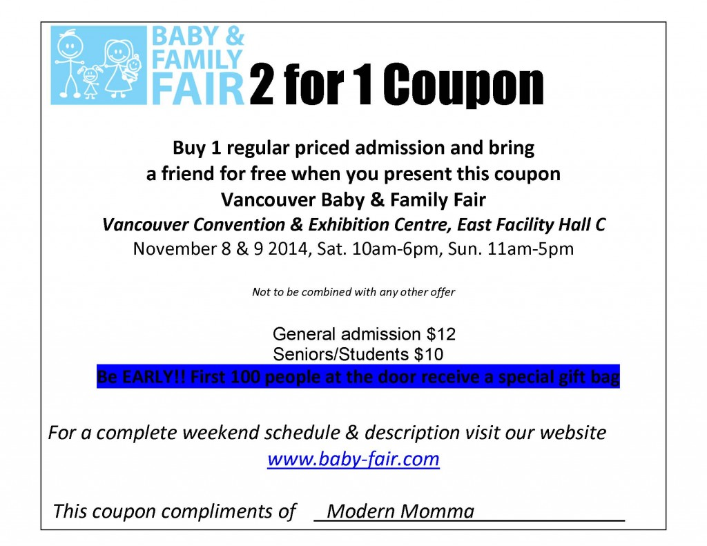 2 for 1 coupon Baby electronic