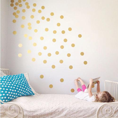 gold wall dots
