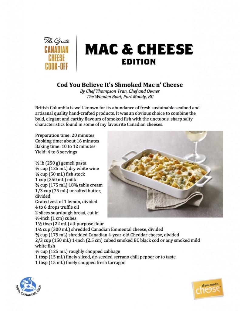 Recipe Cod You Believe Its Shmoked Mac n Cheese