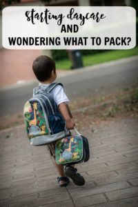 Starting daycare and what to pack