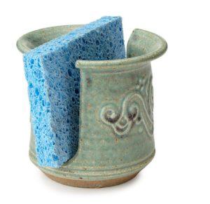 Stoneware Swirl Sponge Holder
