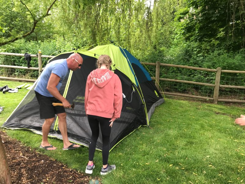 Fake Camping With Kids