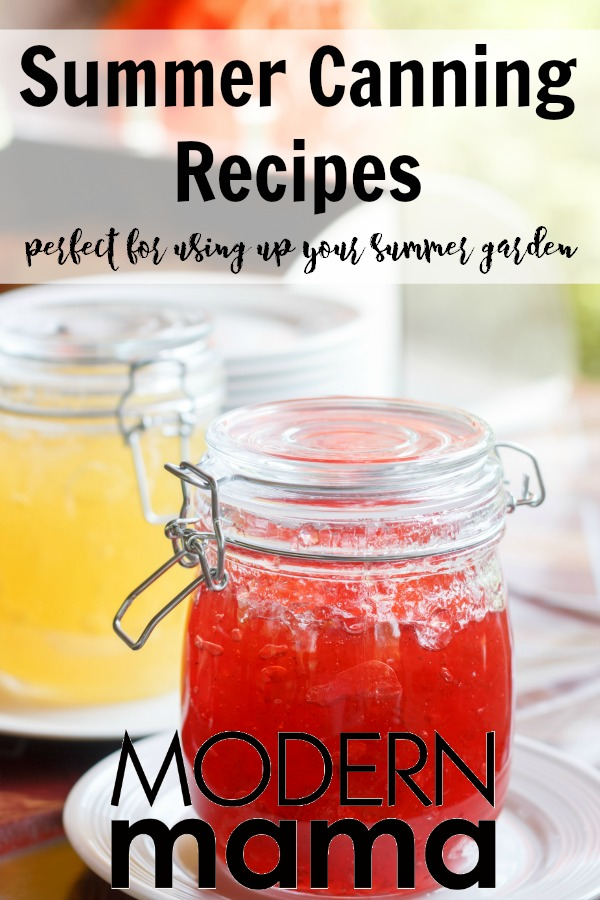 Summer canning Recipes