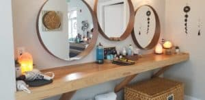 Mirror and extra product storage