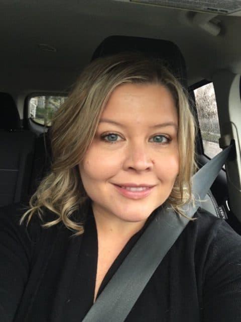 Jennifer Watts selfie in the car