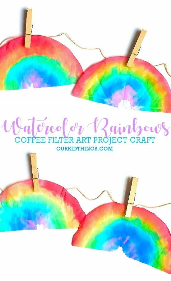 Rainbows on Coffee Filters