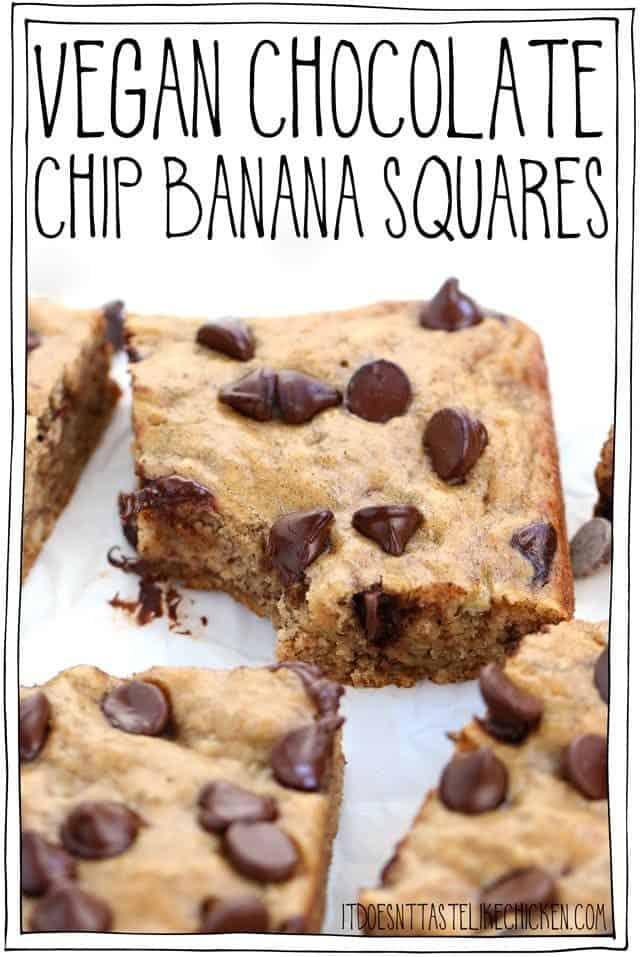 Vegan Chocolate Chip Banana Squares
