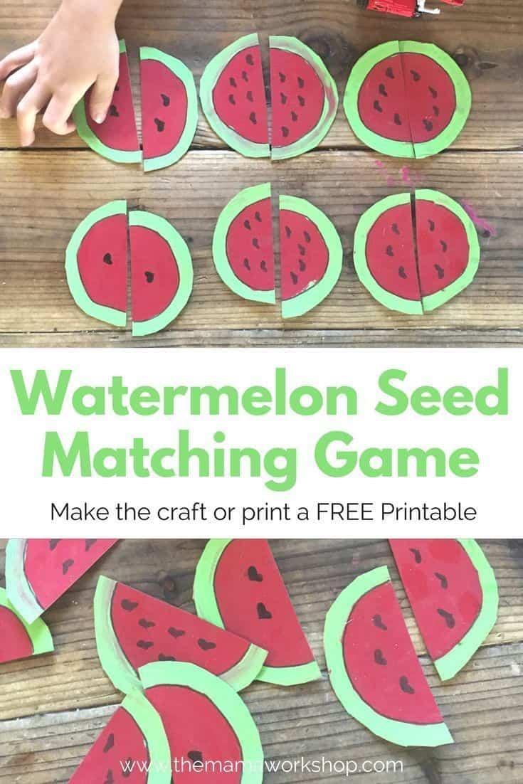 Watermelon Matching Game