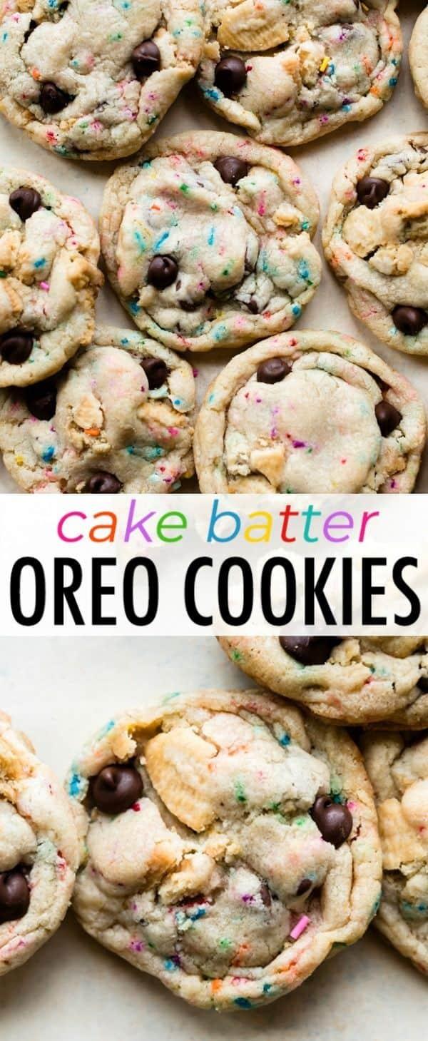 Cake Batter Chocolate Chip Oreo Cookies