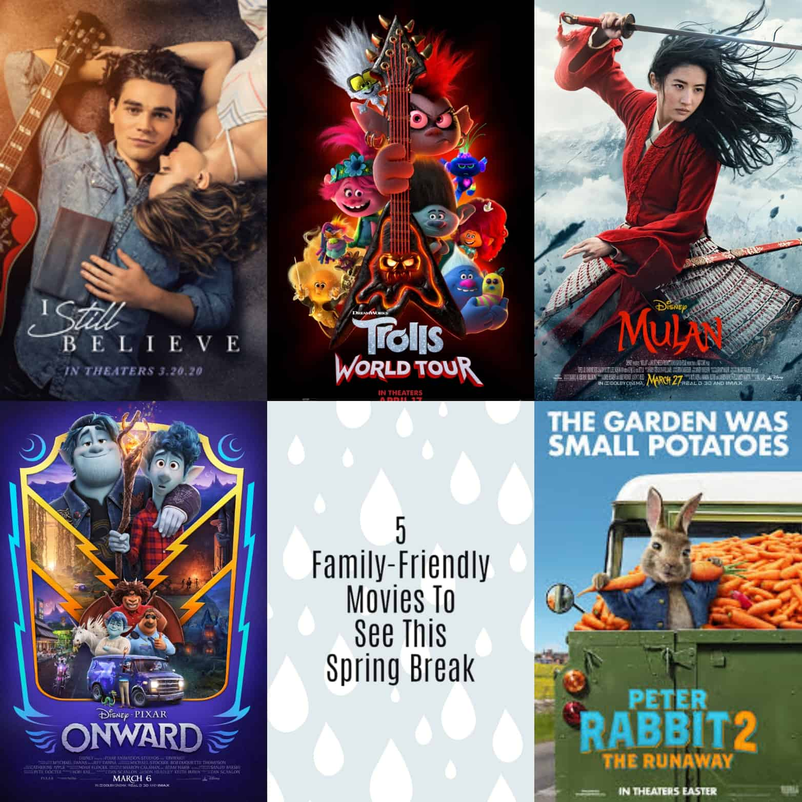 5 movie posters