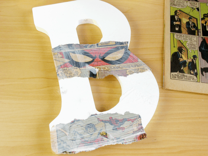 Comic Book Mod Podge Wooden Letters