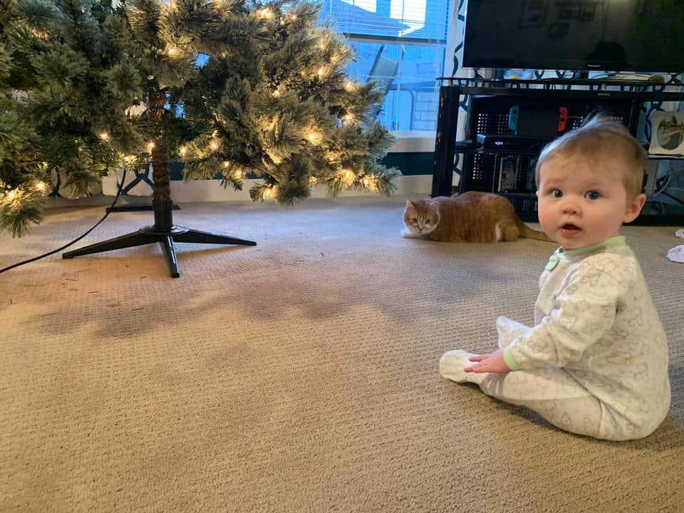 Krystal daughter by Christmas Tree