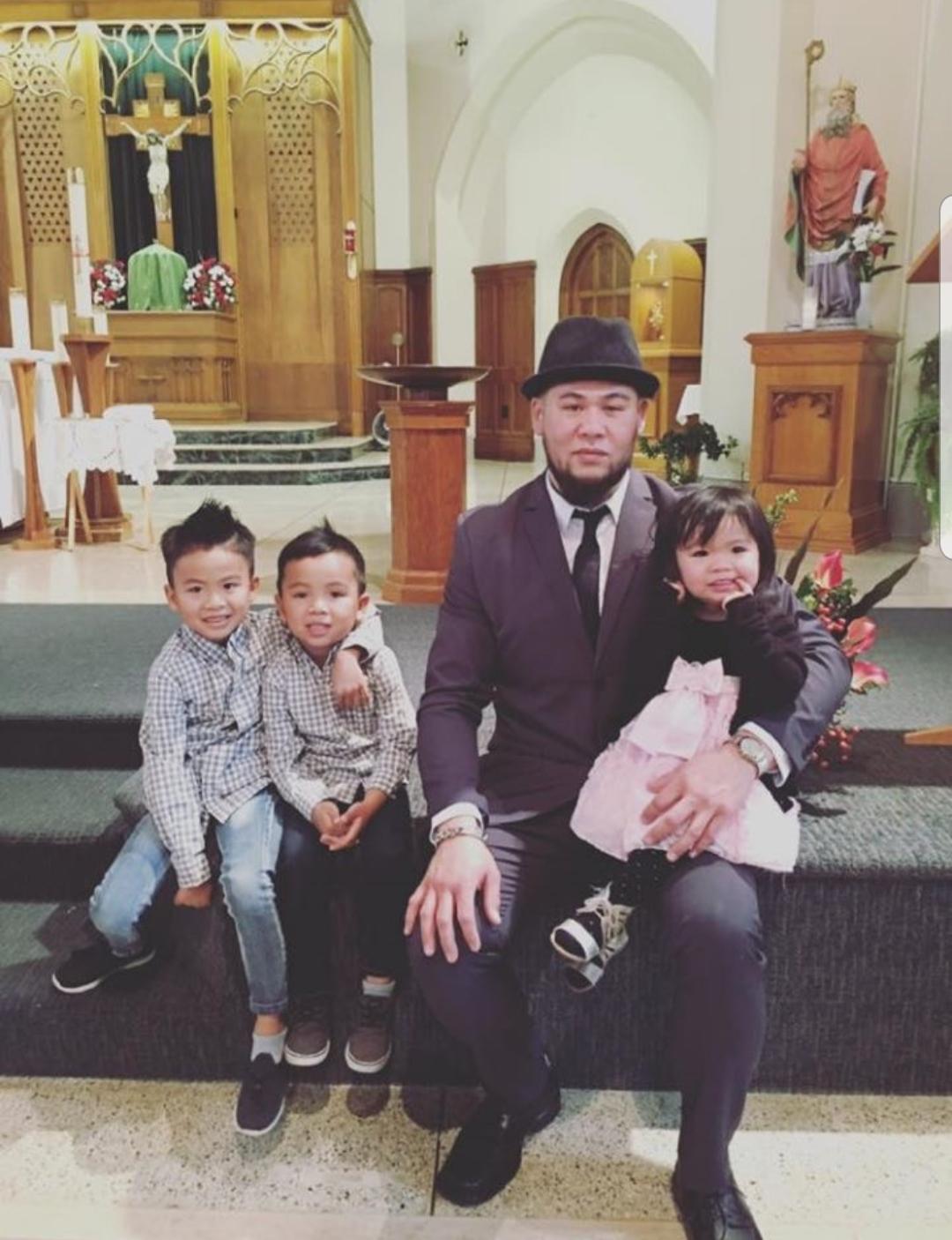 David Smart with his kids