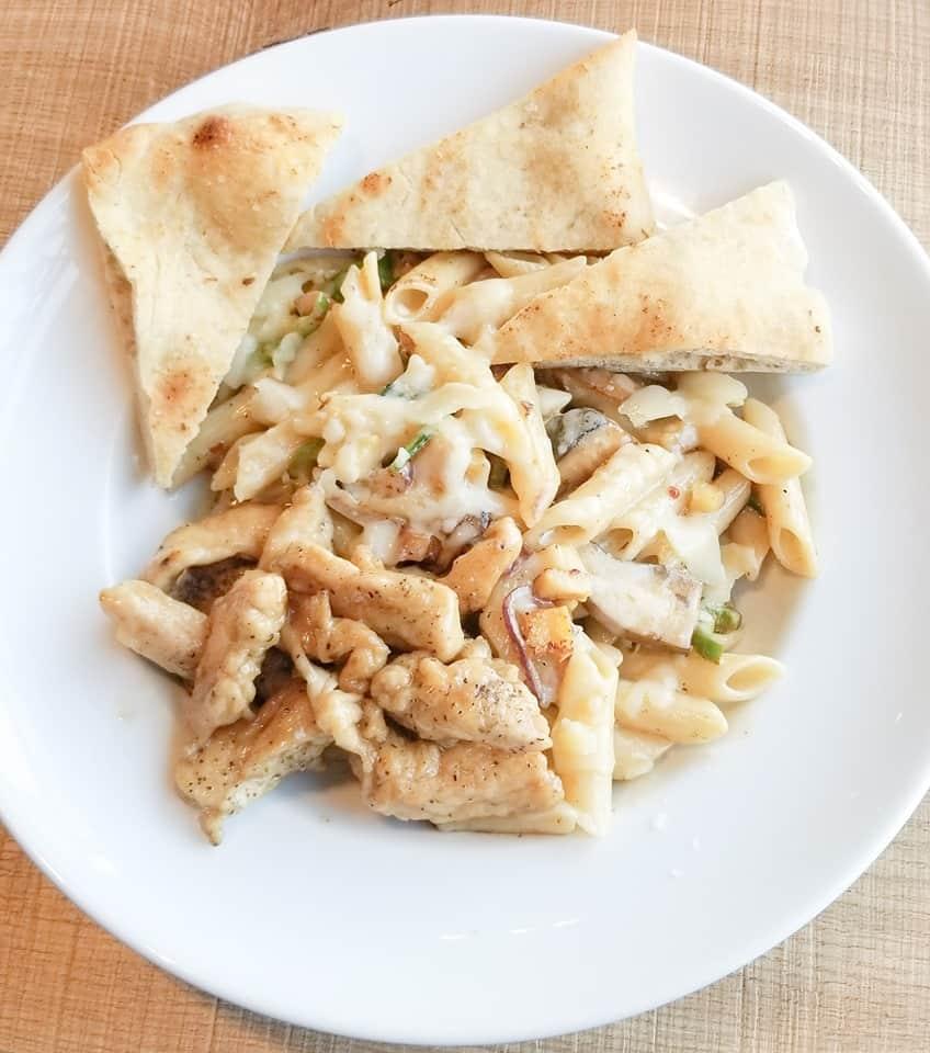 Rocky Mountain Flatbread Pasta Dish