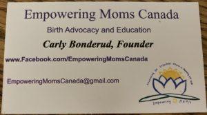 Empowering Moms Canada - Carly Bonderud