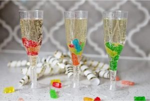 Candied Champagne Mocktail