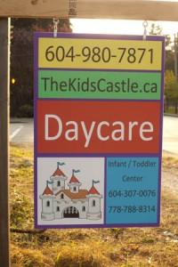 Kids Castle sign photo