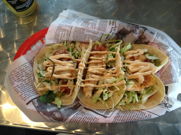 hooked fish tacos