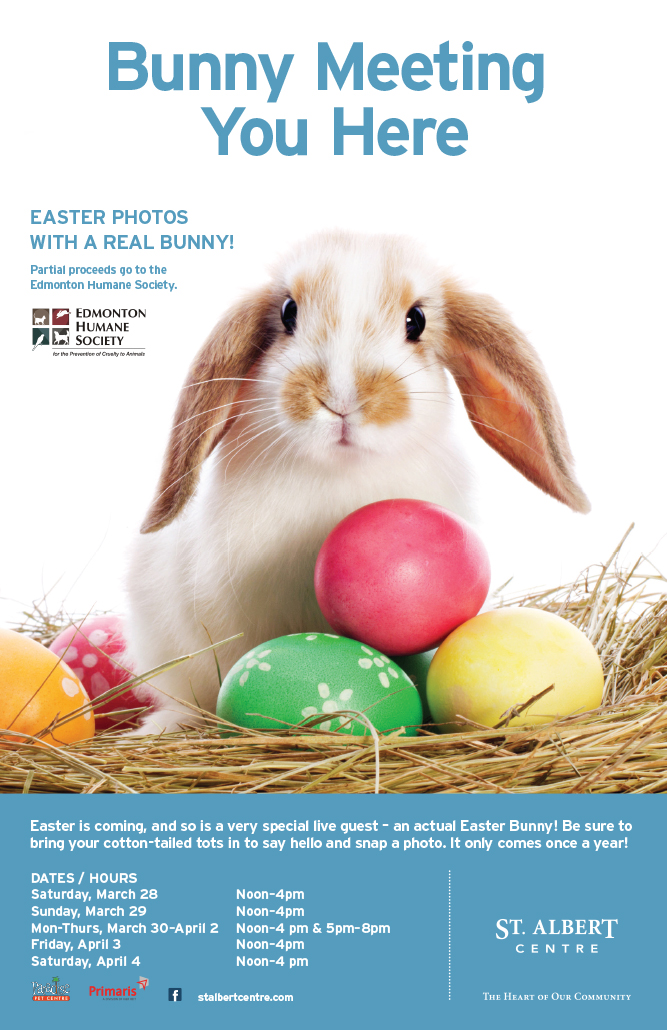 Easter Bunny at St. Albert Centre