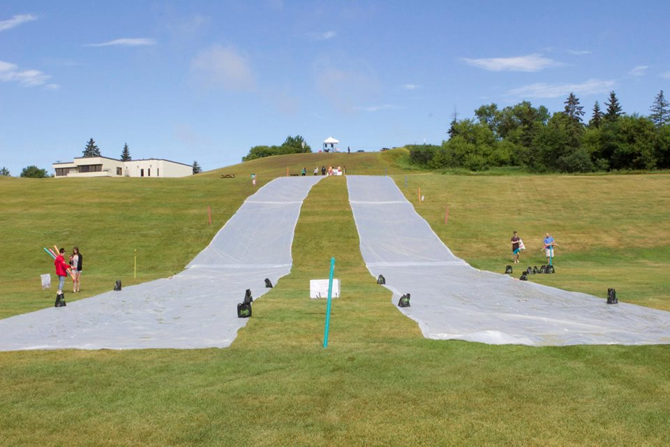 "Giant Slip 'N"" Slide in St. Albert!"