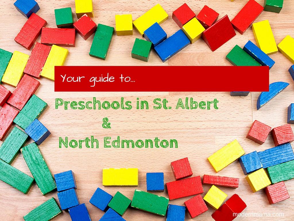 Preschools in St. Albert and North Edmonton
