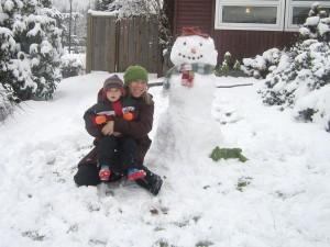 vancouver winter snow person